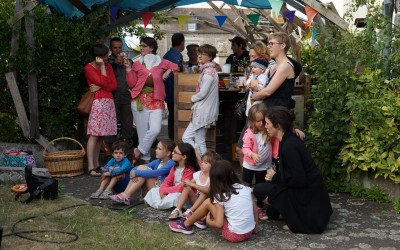 Barbecue, jeux et chants